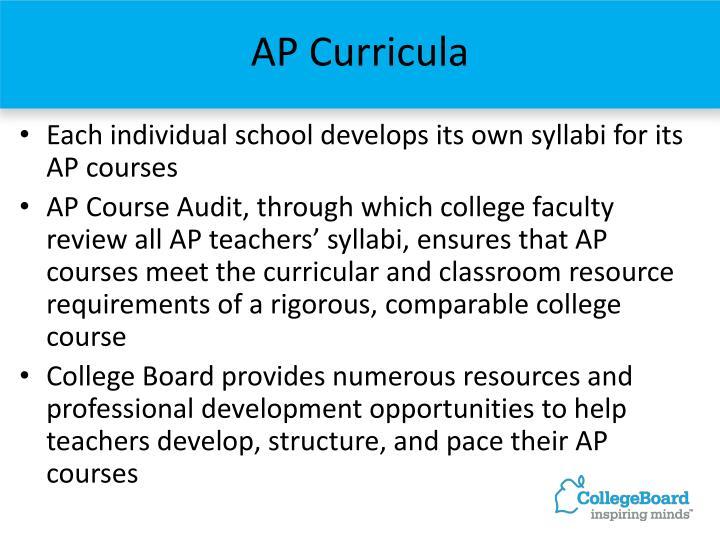AP Curricula