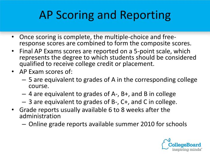 AP Scoring and Reporting