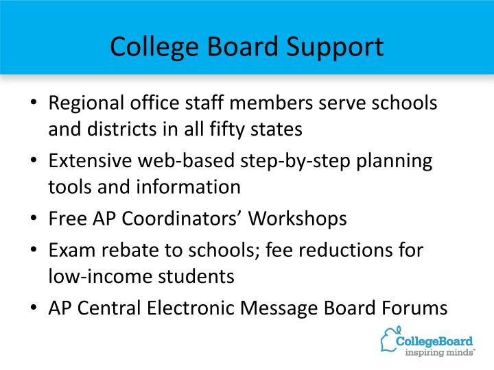 College Board Support