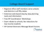 college board support