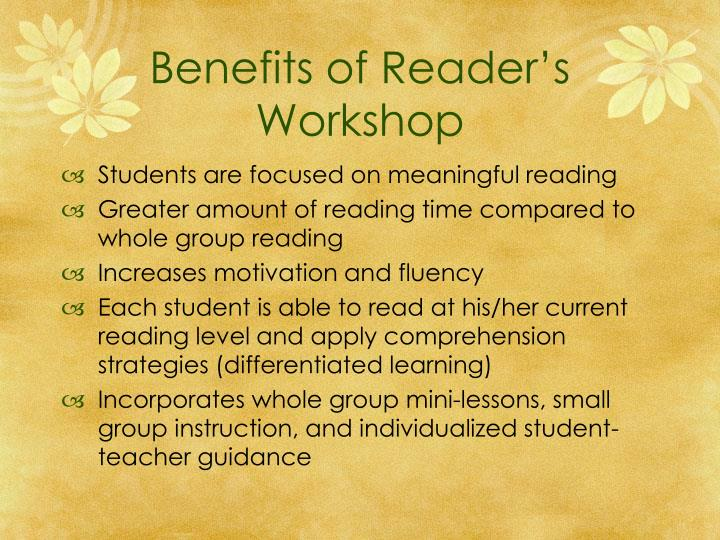 Benefits of Reader's Workshop