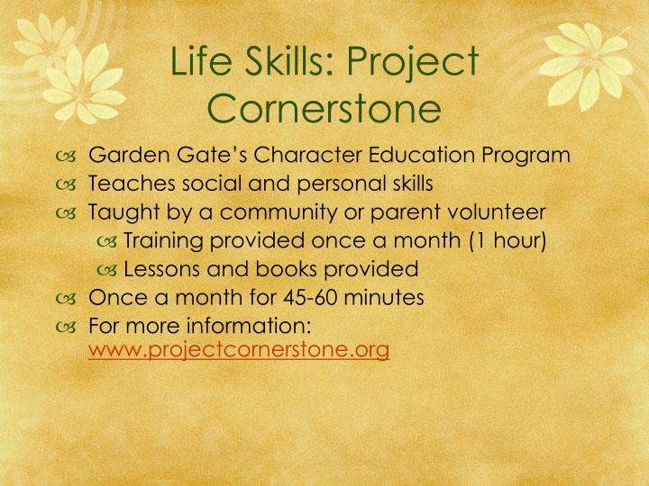 Life Skills: Project Cornerstone