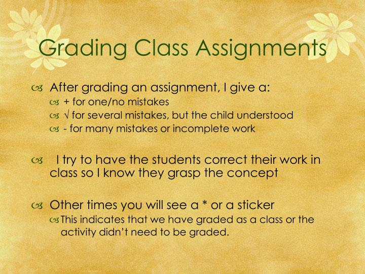 Grading Class Assignments