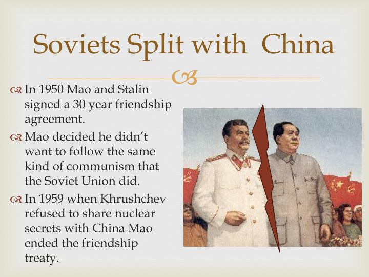 Soviets Split with  China