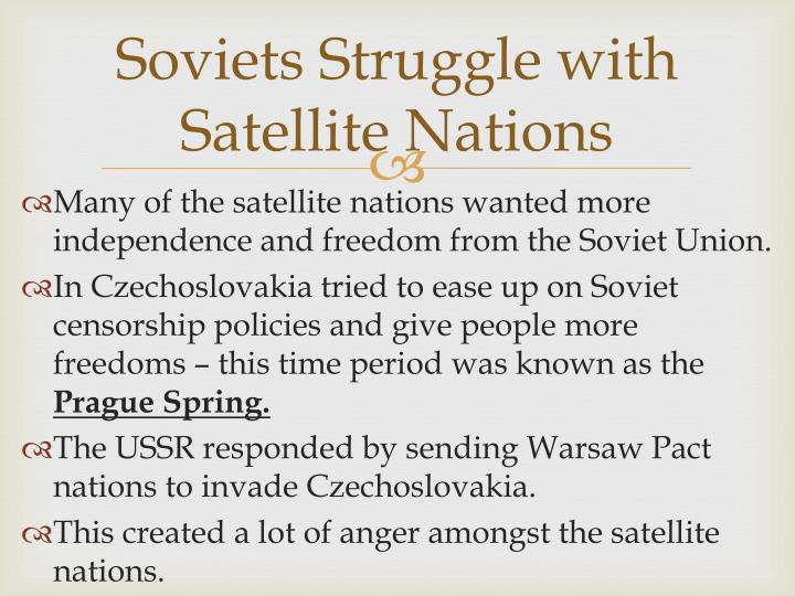 Soviets Struggle with Satellite Nations