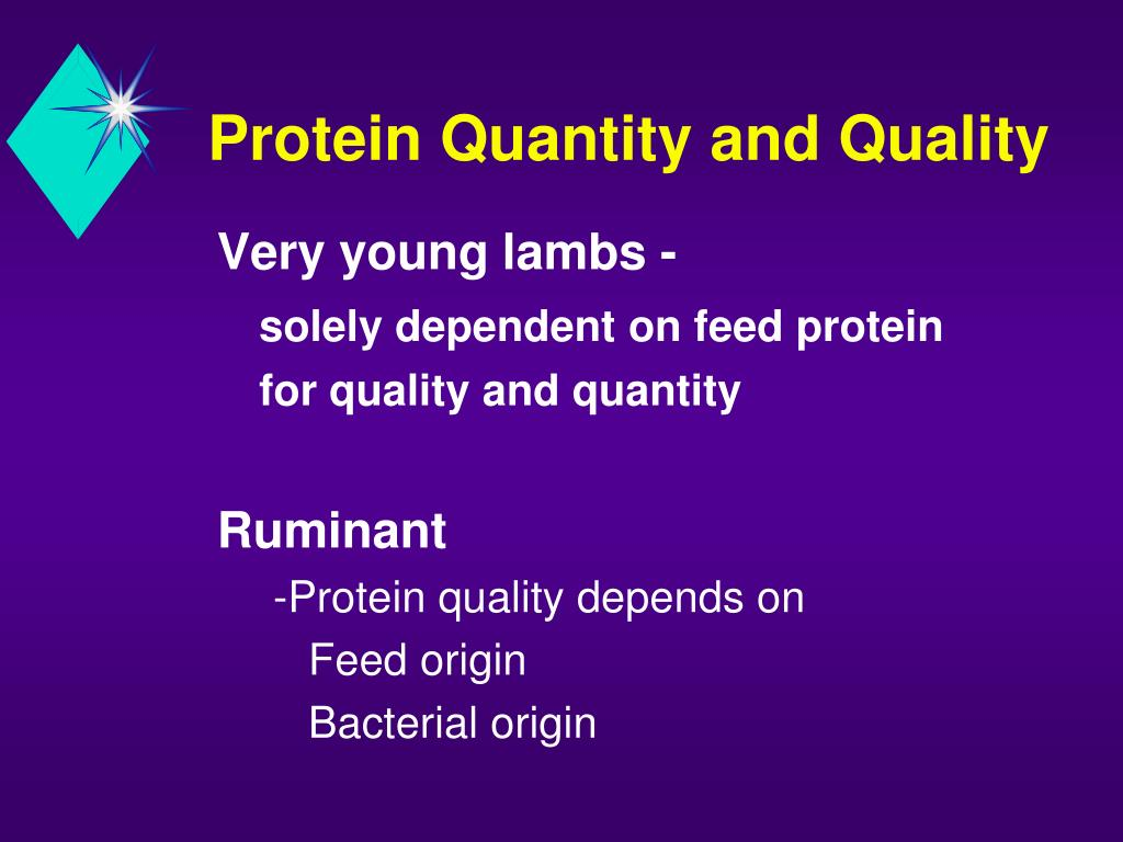 Protein Quantity and Quality