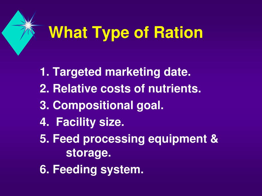 What Type of Ration