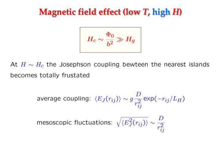 Magnetic field effect (low