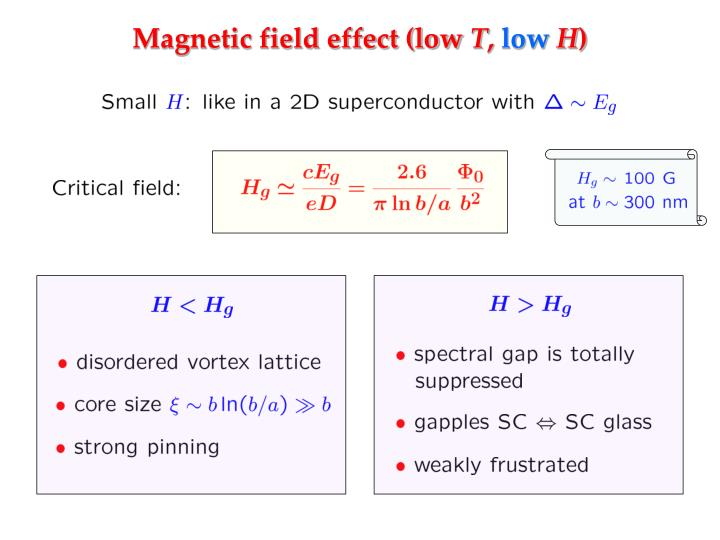 Magnetic field effect (low