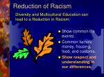 reduction of racism