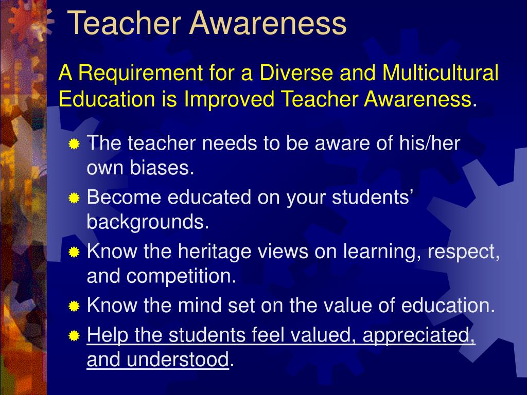Teacher Awareness