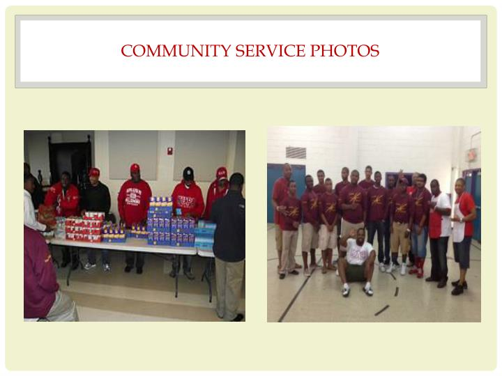 COMMUNITY SERVICE PHOTOS