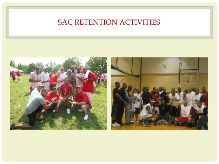 SAC RETENTION ACTIVITIES