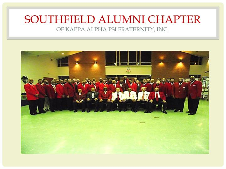 Southfield alumni chapter of kappa alpha psi fraternity inc