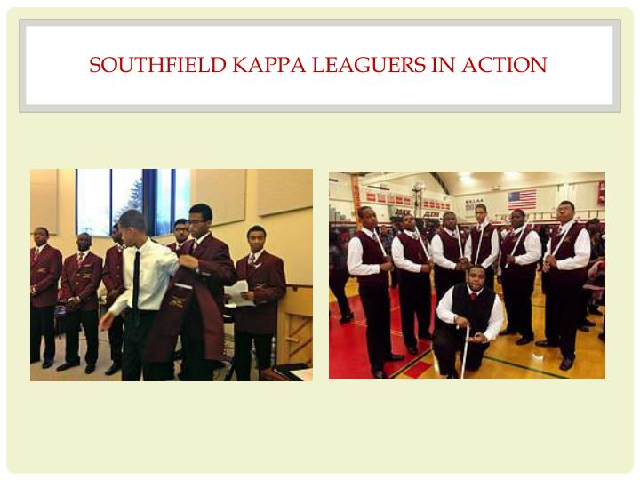SOUTHFIELD KAPPA LEAGUERS IN ACTION