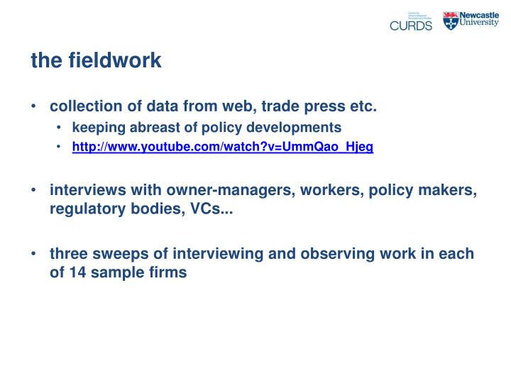 the fieldwork