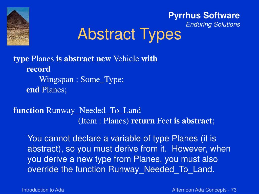 Abstract Types
