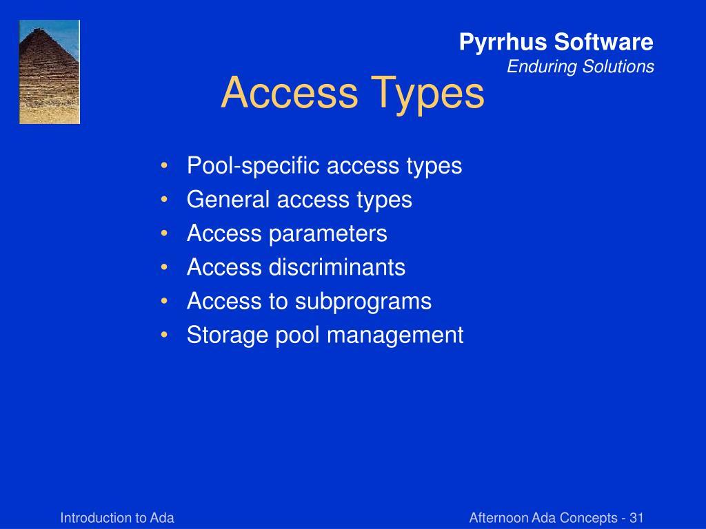 Access Types