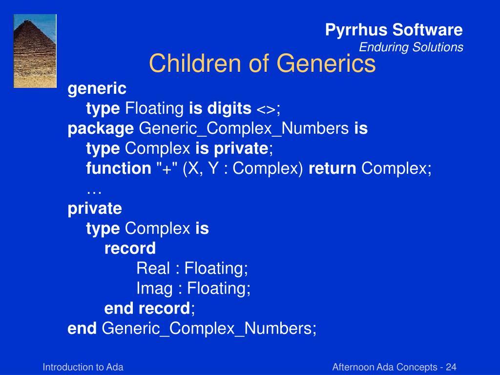 Children of Generics