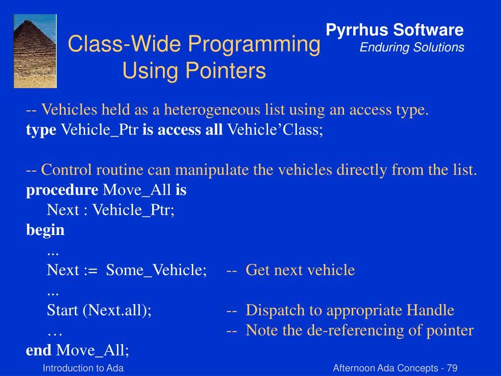Class-Wide Programming