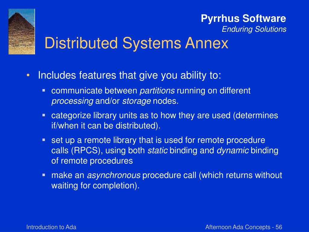 Distributed Systems Annex