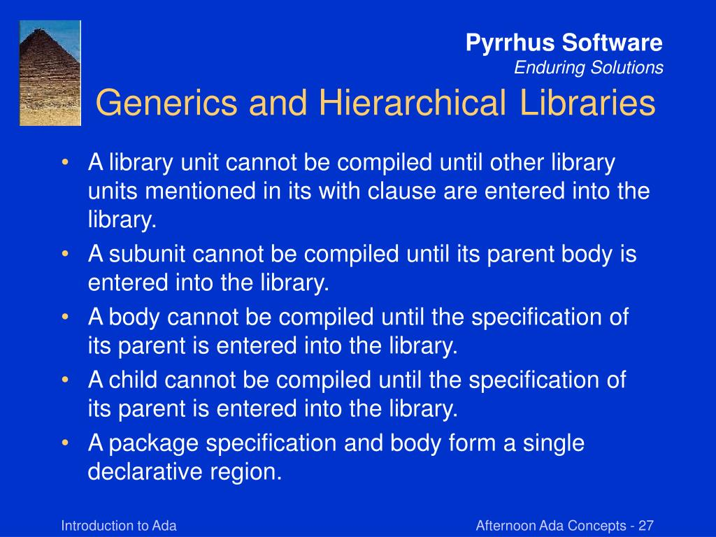 Generics and Hierarchical