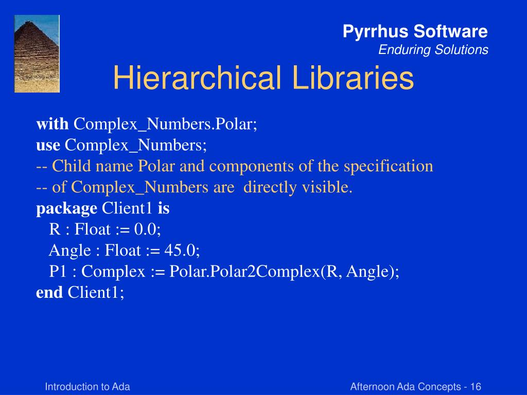 Hierarchical Libraries