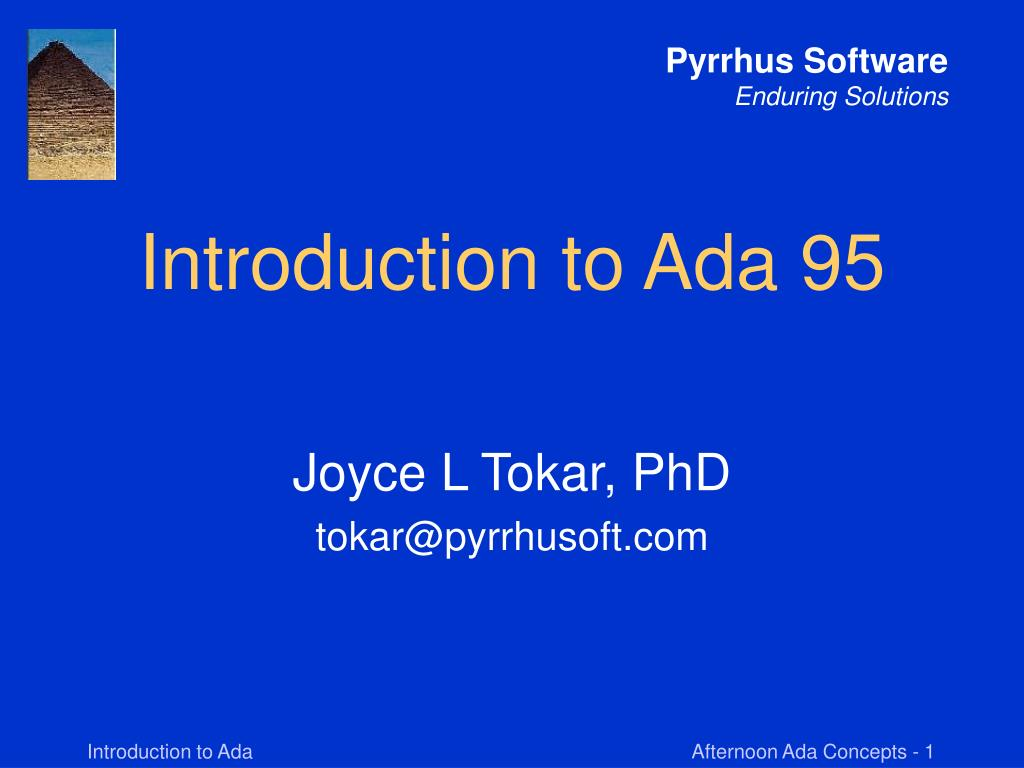 Introduction to Ada 95