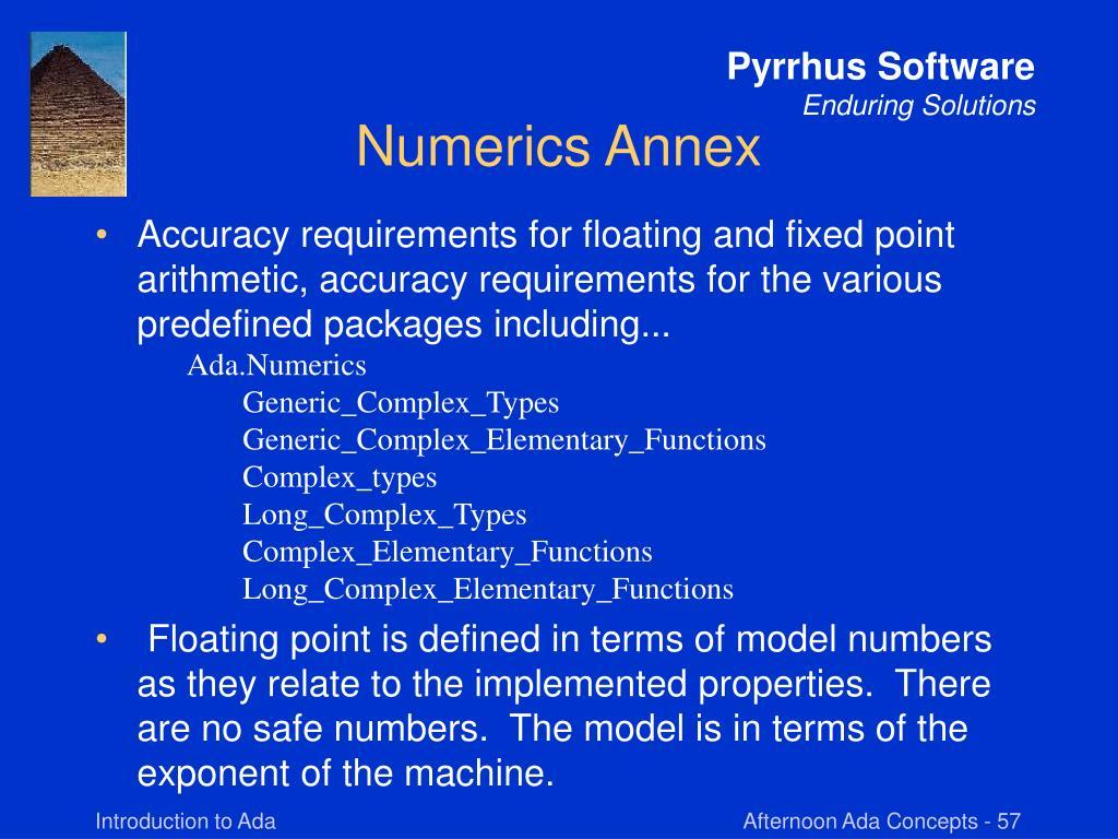 Numerics Annex