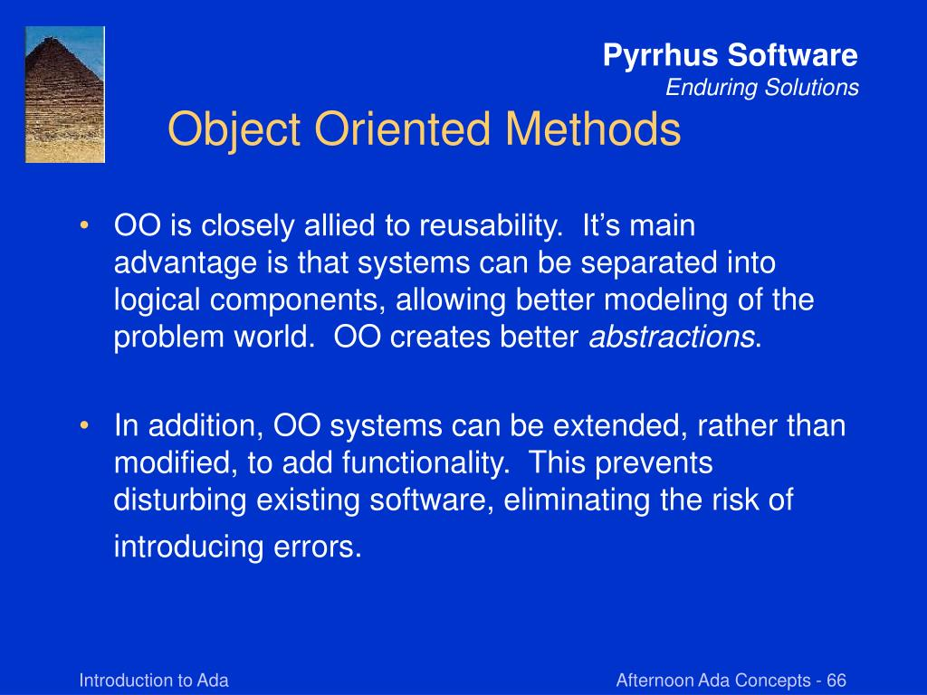 Object Oriented Methods