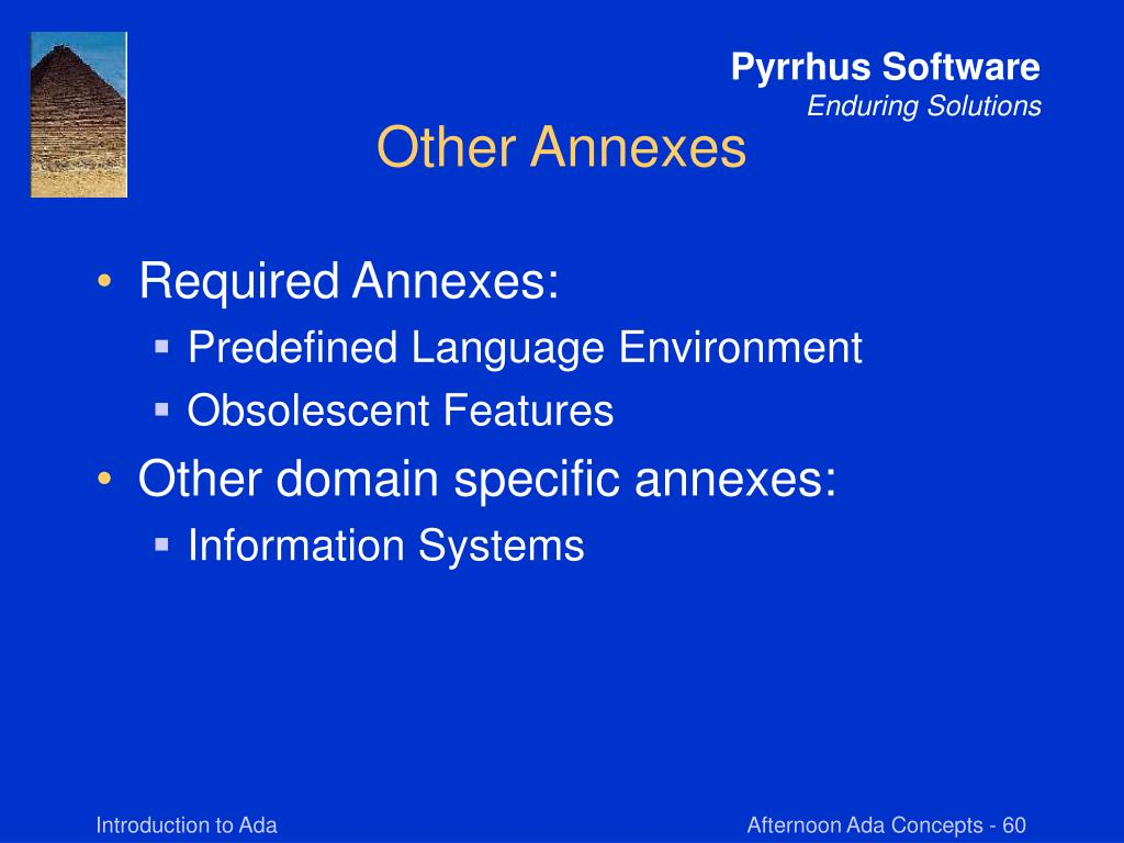 Other Annexes