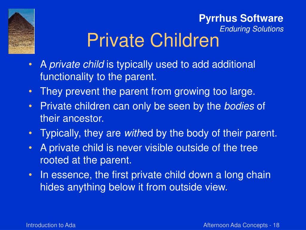 Private Children