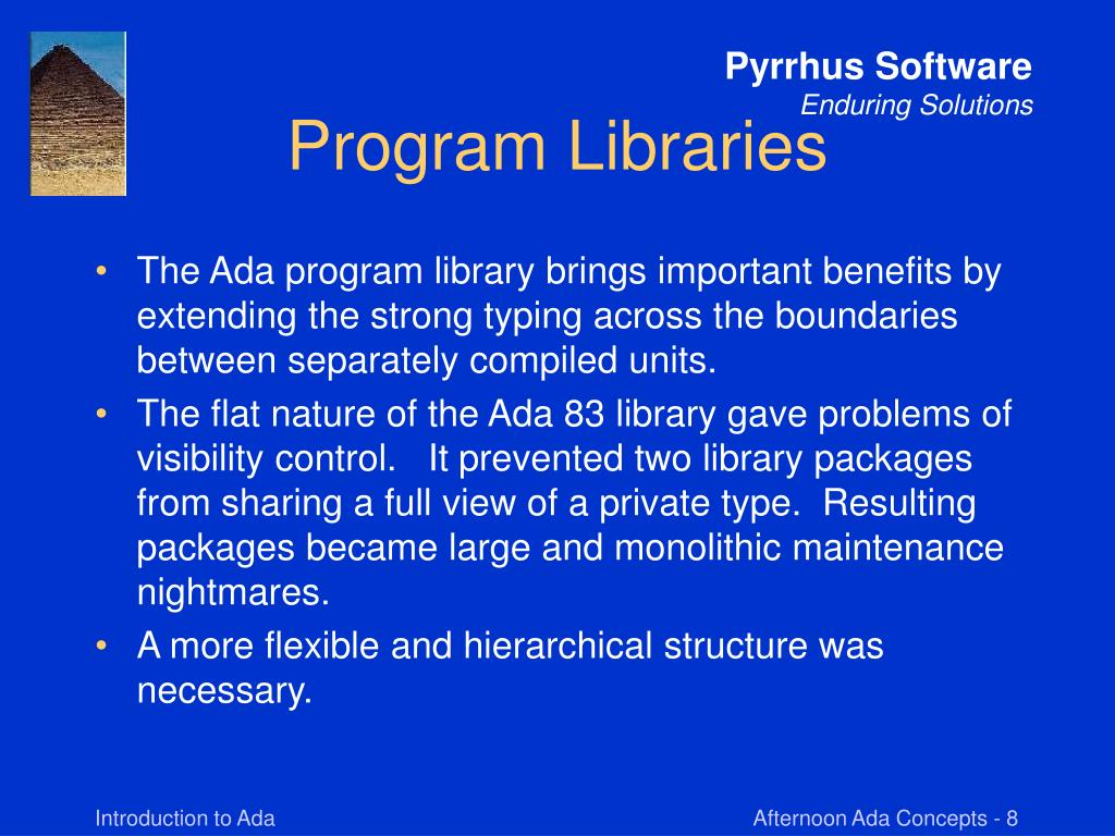 Program Libraries