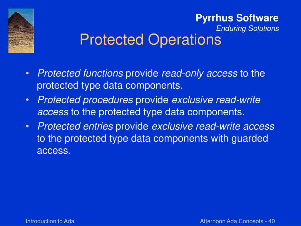 Protected Operations