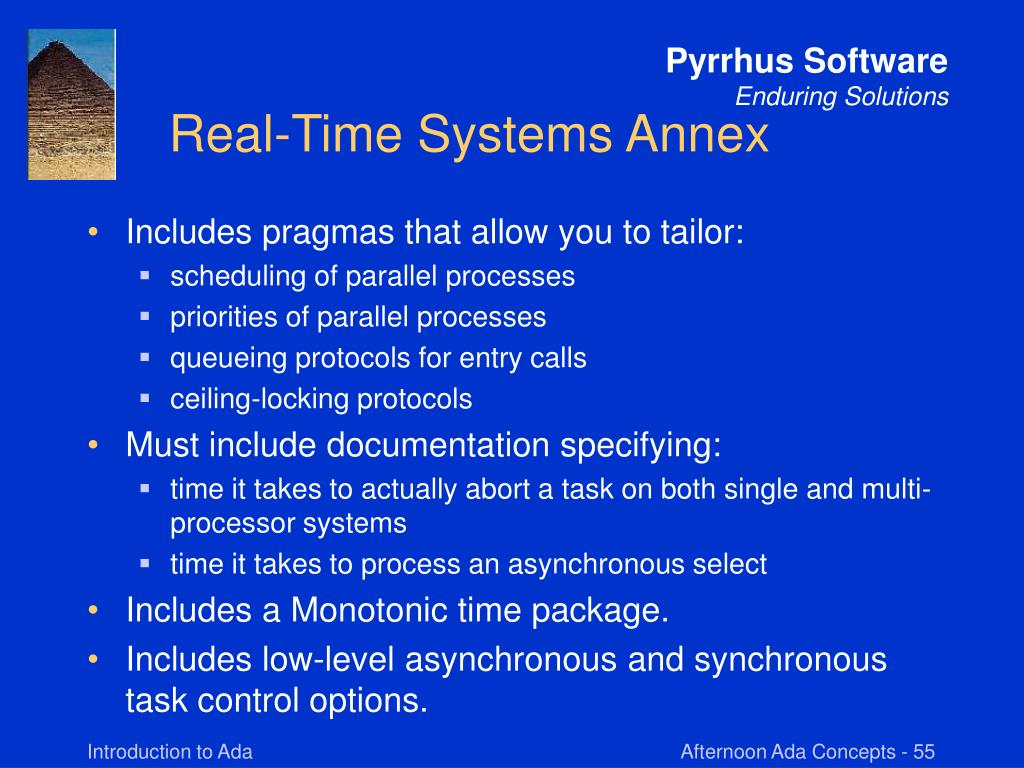 Real-Time Systems Annex