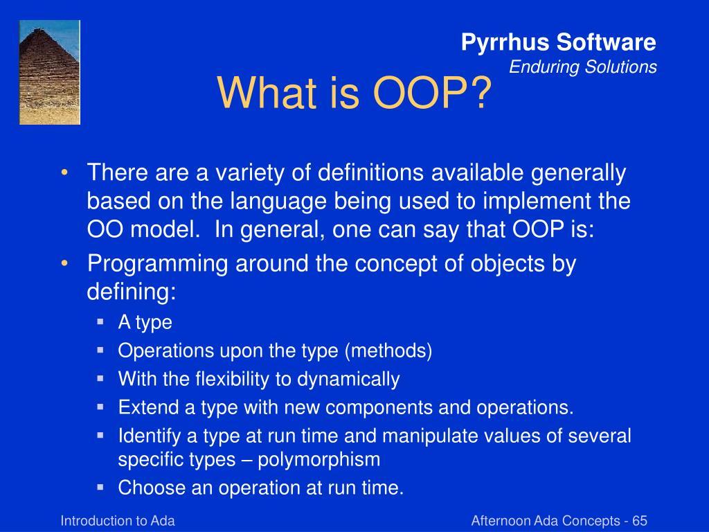 What is OOP?