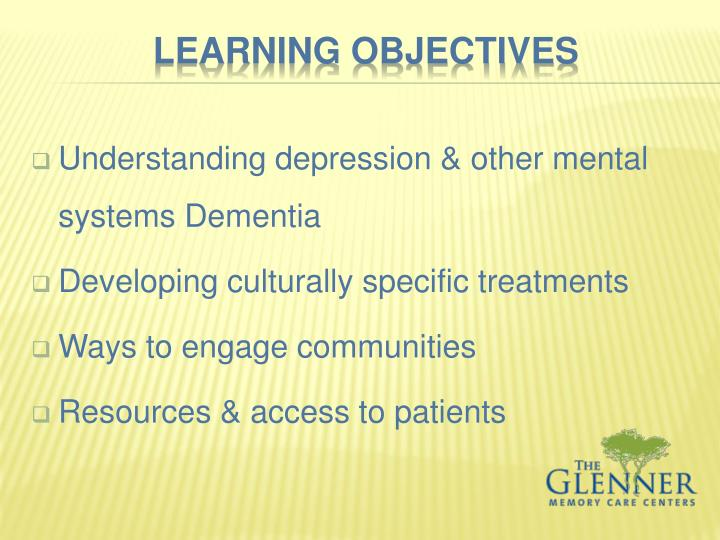 Understanding depression & other mental systems Dementia
