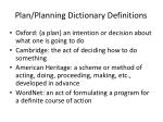 plan planning dictionary definitions