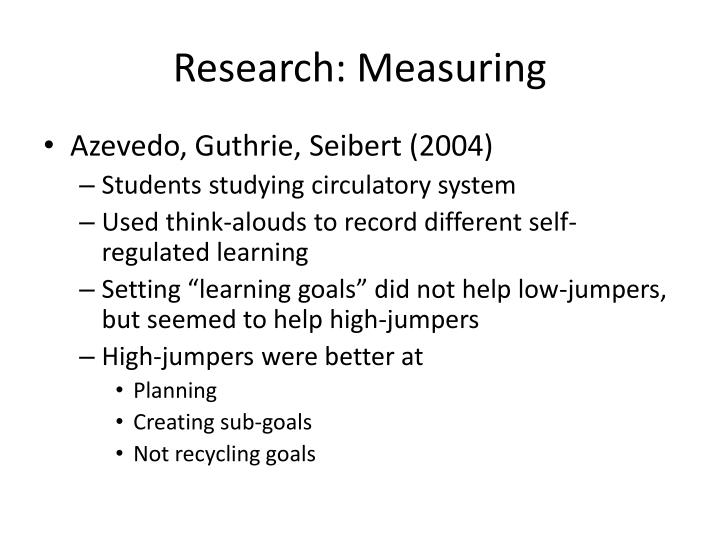 Research: Measuring