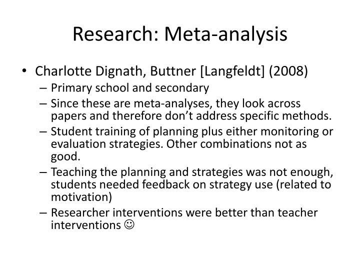 Research: Meta-analysis