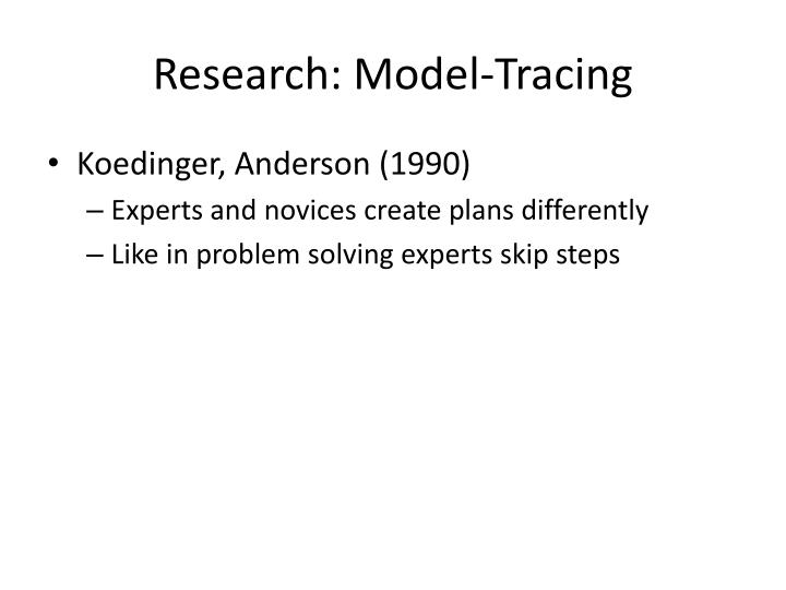 Research: Model-Tracing