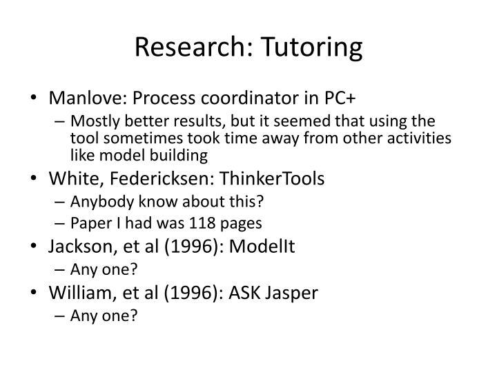 Research: Tutoring