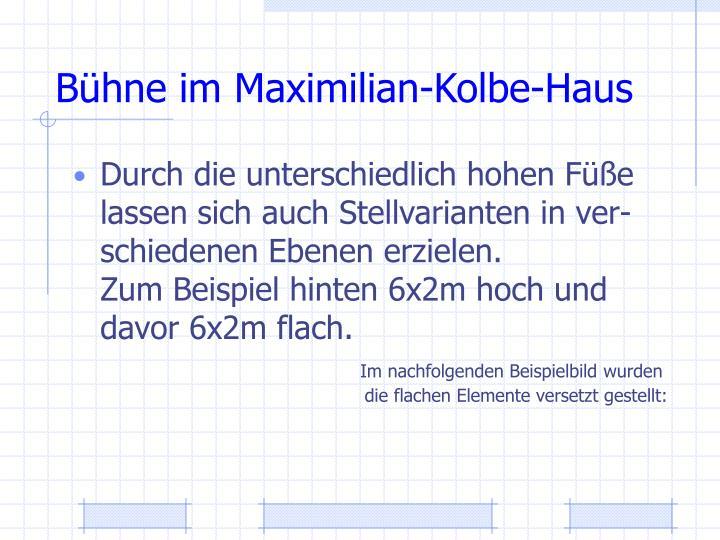 Bühne im Maximilian-Kolbe-Haus