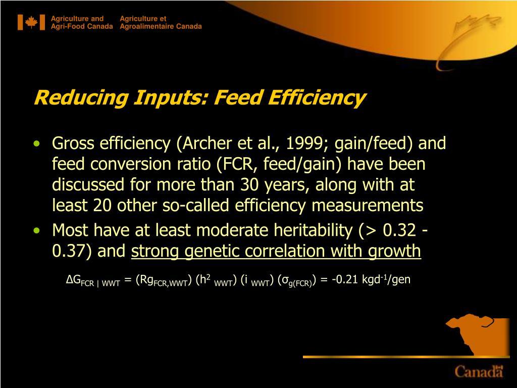 Reducing Inputs: Feed Efficiency
