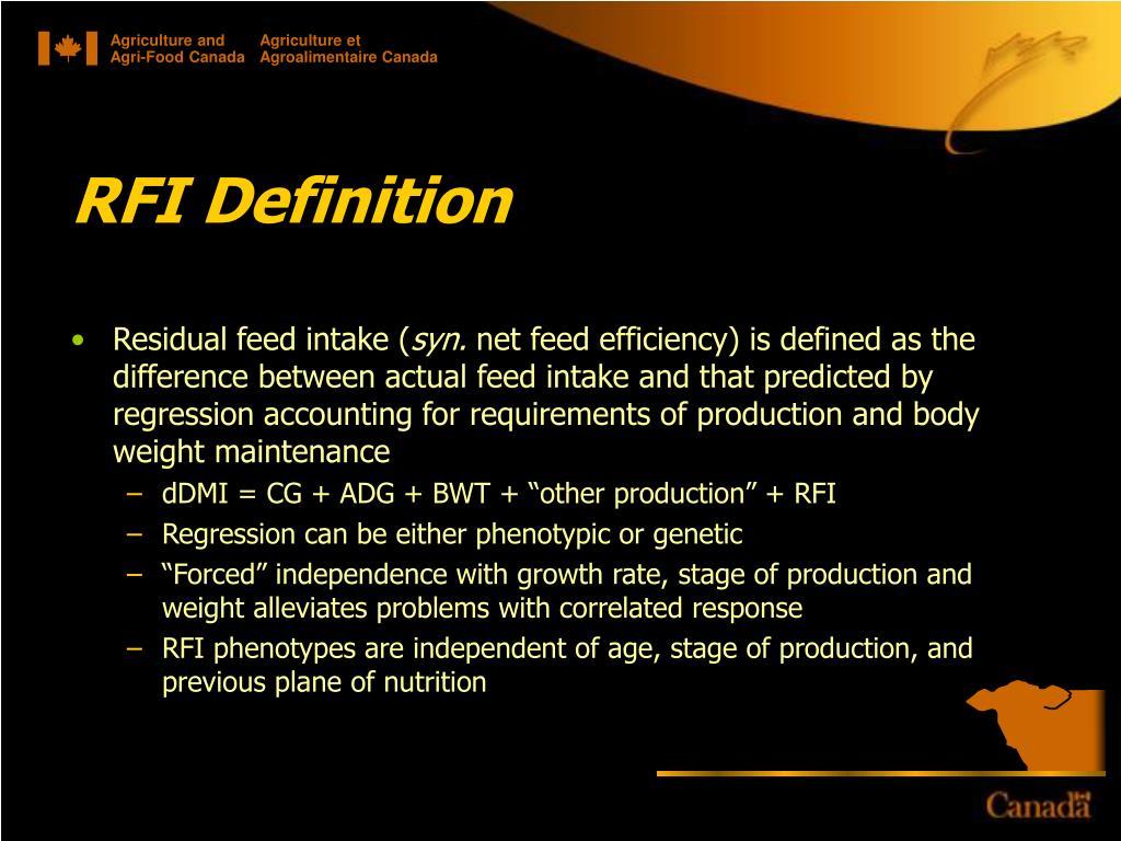 RFI Definition