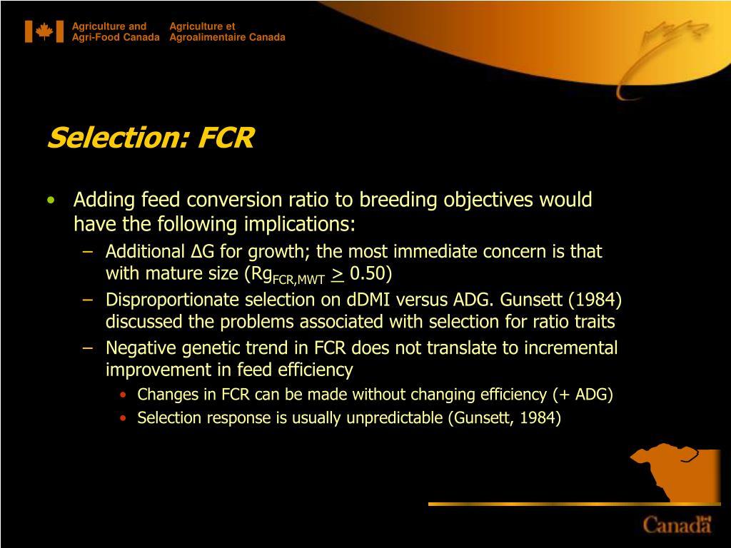 Selection: FCR
