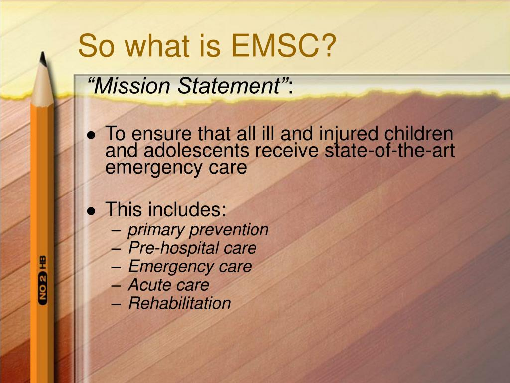 So what is EMSC?