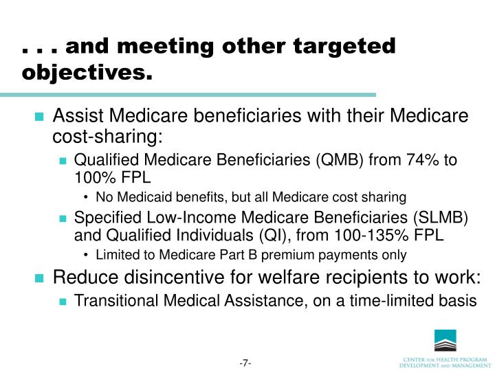 PPT - Summary of Medicaid Reform Proposals: Eligibility ...