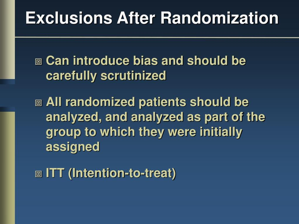 Exclusions After Randomization