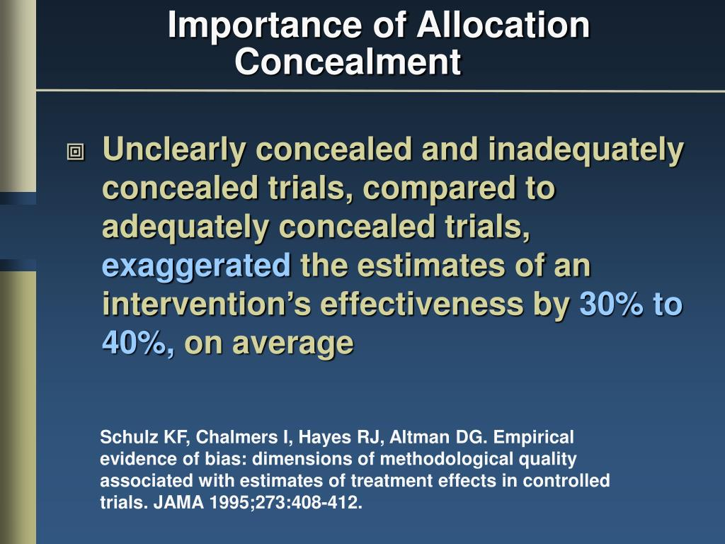 Unclearly concealed and inadequately concealed trials, compared to adequately concealed trials,
